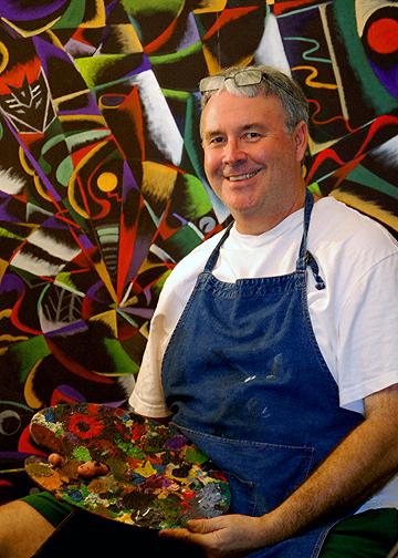 Artist Richard John Jenkins Painting More Than Meets the Eye