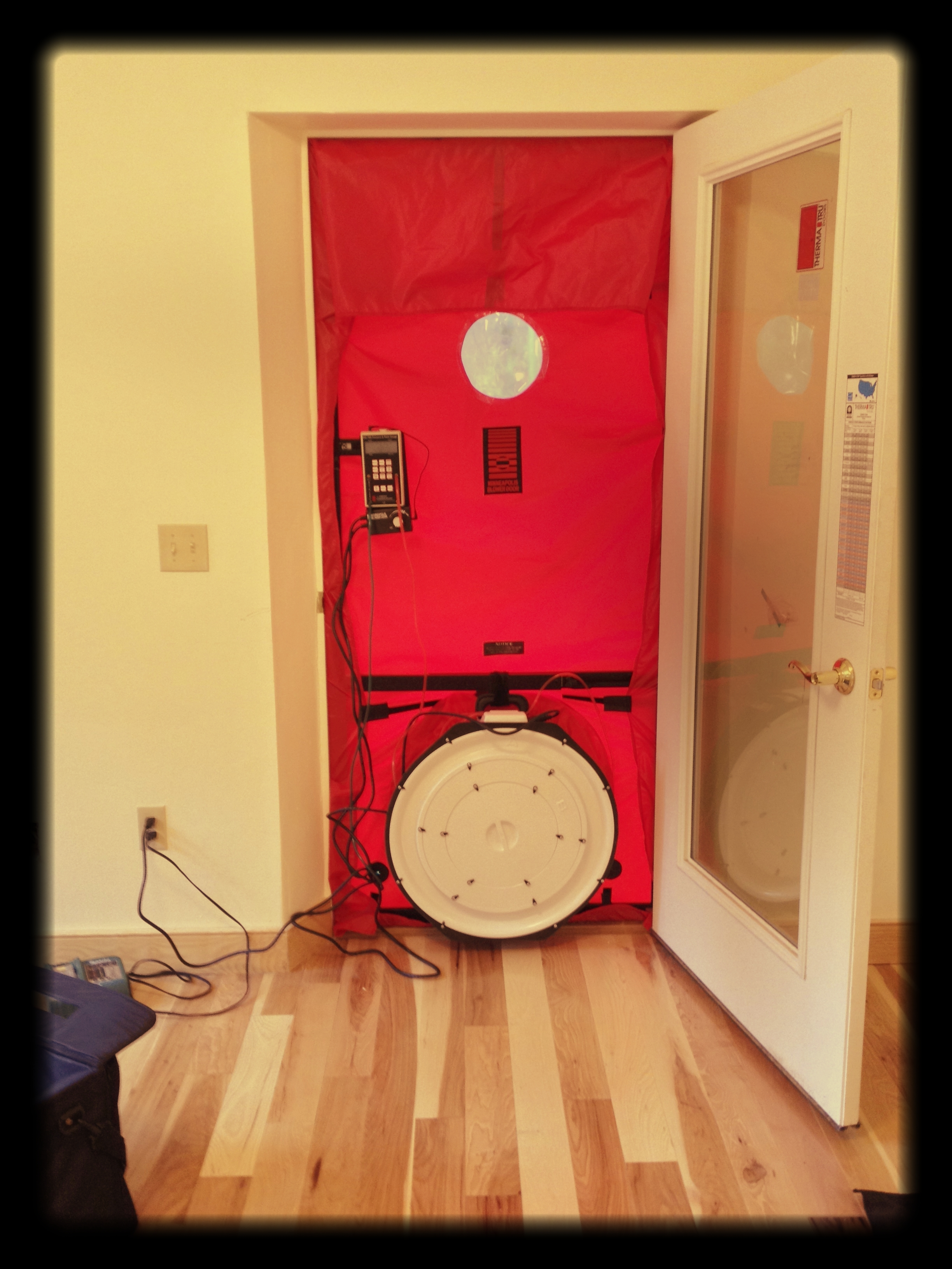 The 2012 IECC requires blower door testing for all new homes.