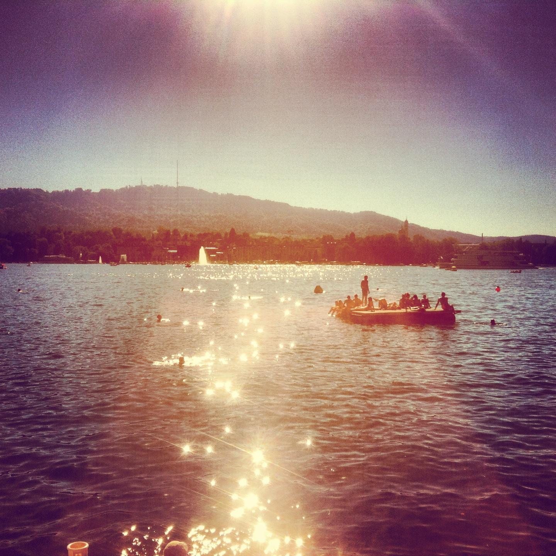 Zurich, lake swims & pontoons, Switzerland