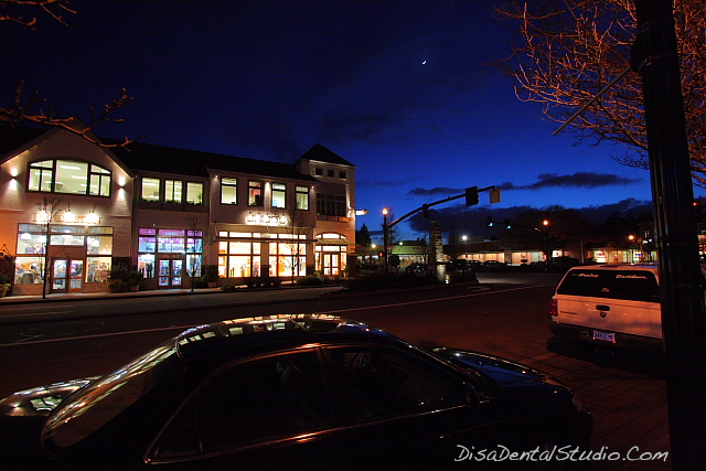 Night Shot Lake Oswego