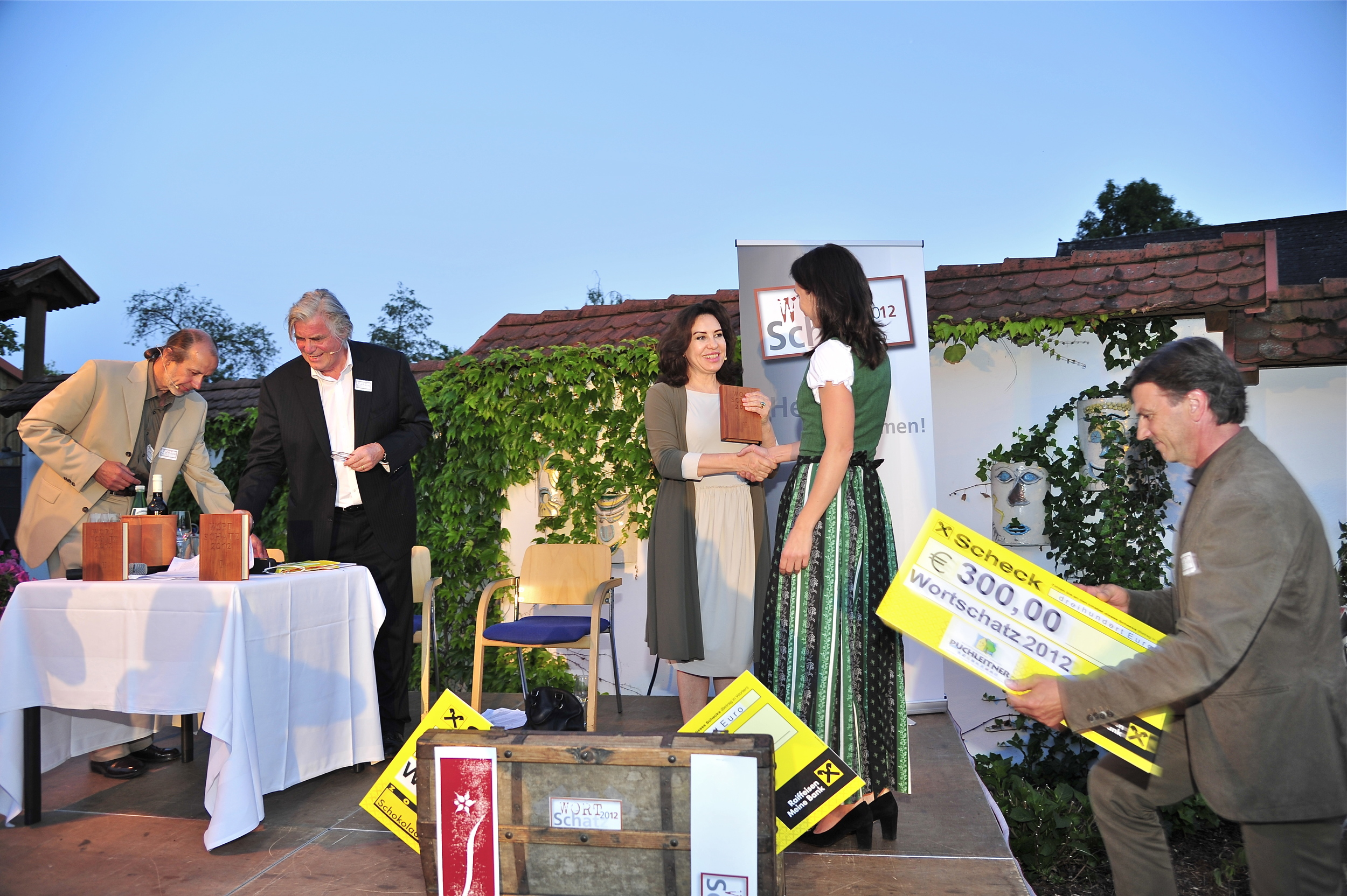 Siegerpräsentation - Wortschatz 2012 Literaturwettbewerb