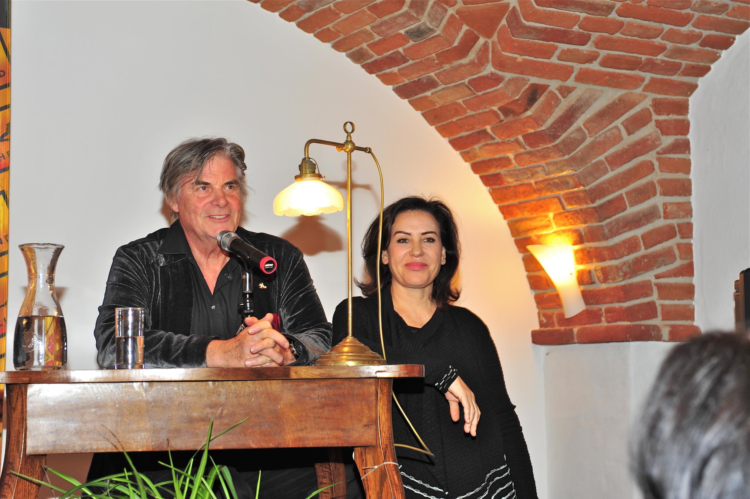 Buchpräsentation, Brigitte Karner, Peter Simonischek - Wortschatz 2010 Literaturwettbewerb