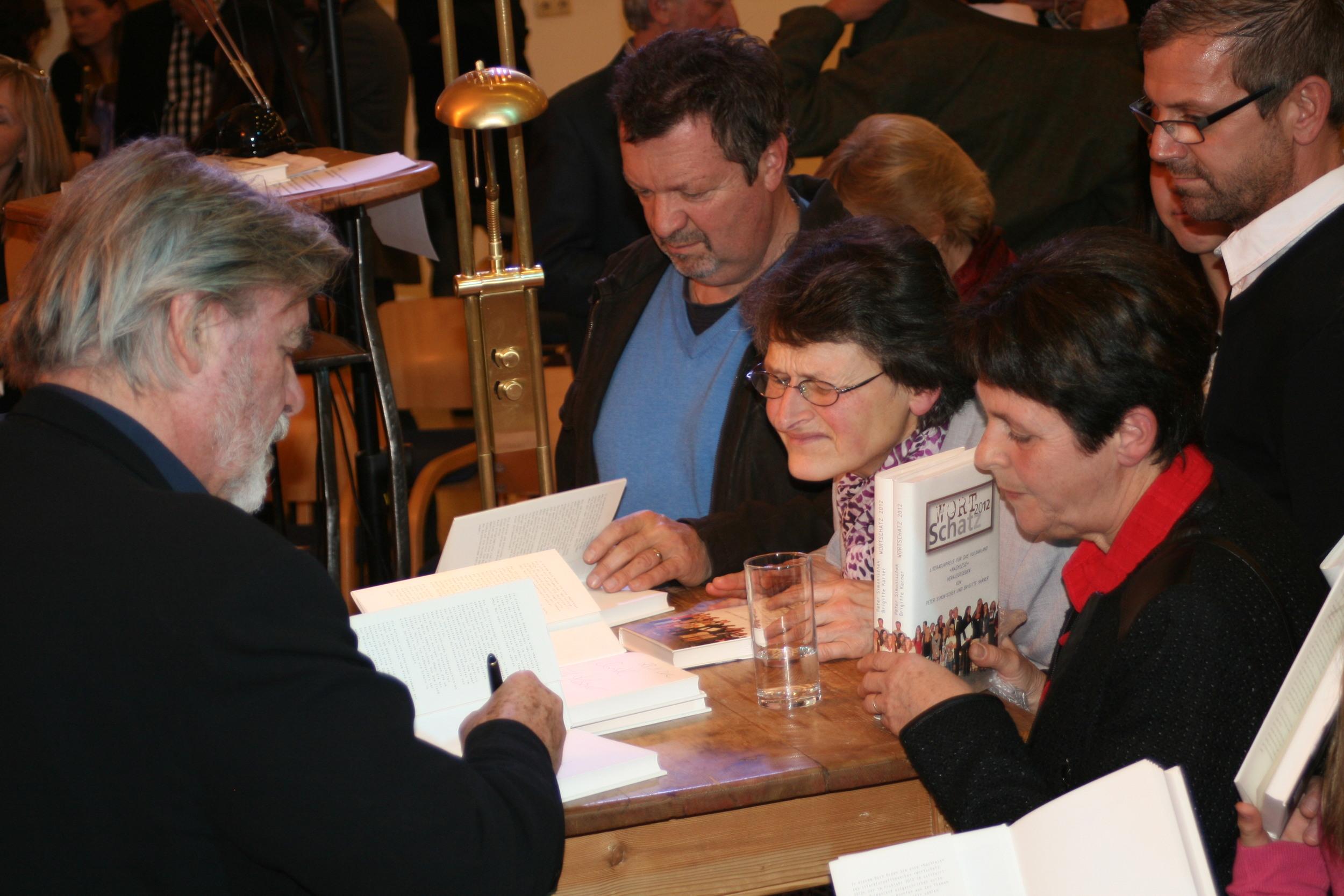 Buchpräsentation, Peter Simonischek - Wortschatz 2012 Literaturwettbewerb
