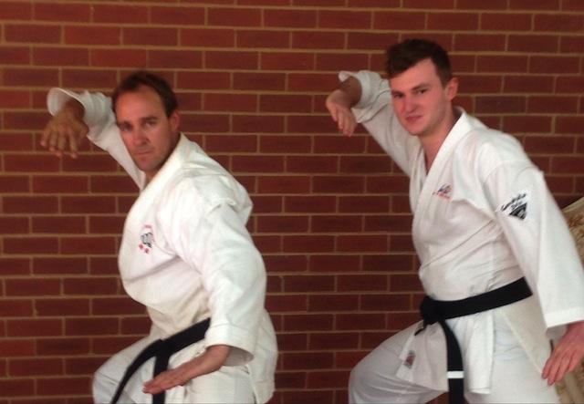 Pictured: Sensei Rod Peters (Yon-dan - 4th degree black belt) and Senior student Jessie Birthisel (Shodan-ho - Probationary 1st degree black belt)