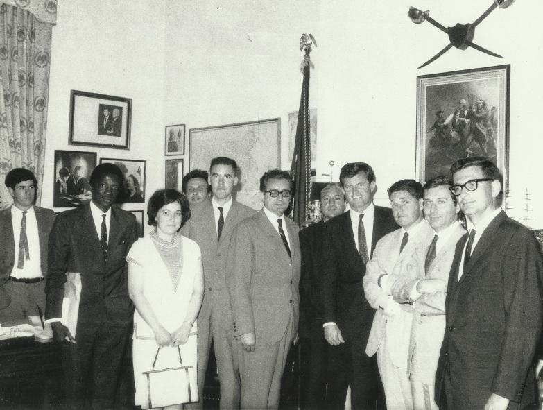 Na seminaru u SAD, sa Tedom Kennedyem