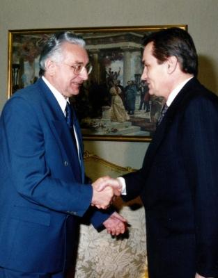 Sa Harisom Silajdžićem, članom predsjedništva BiH
