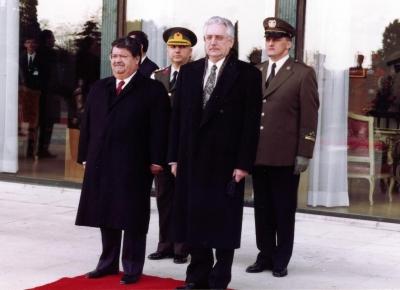Sa turskim predsjednikom Turgut Özalom