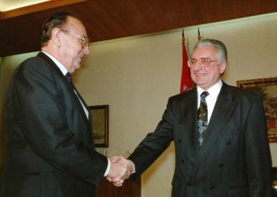 Sa Hans-Dietrich Genscherom, njemačkim ministrom vanjskih poslova