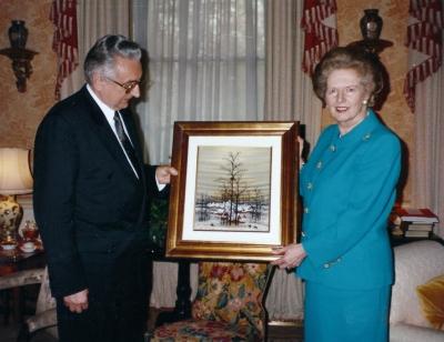 Sa bivšom premijerkom Velike Britanije Margaret Thatcher