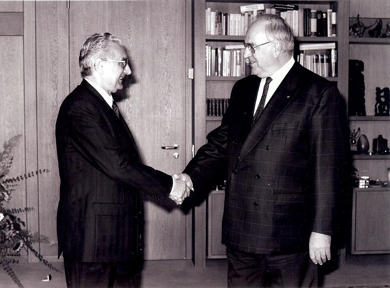Sa Helmutom Kohlom, njemačkim kancelarom