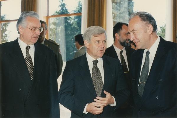 Sa Milanom Kučanom, slovenskim predsjednikom