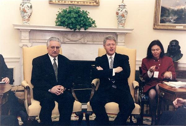 Sa Billom Clintonom, američkim predsjednikom