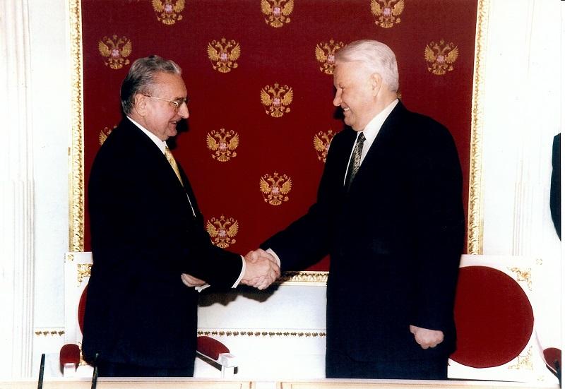 Sa ruskim predsjednikom Borisom Jeljcinom
