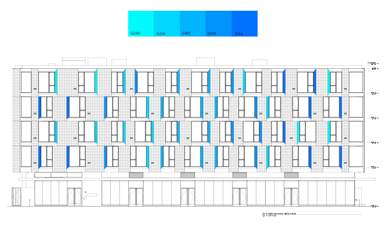 Elevation for William / Kaven Architecture's Parallax project.