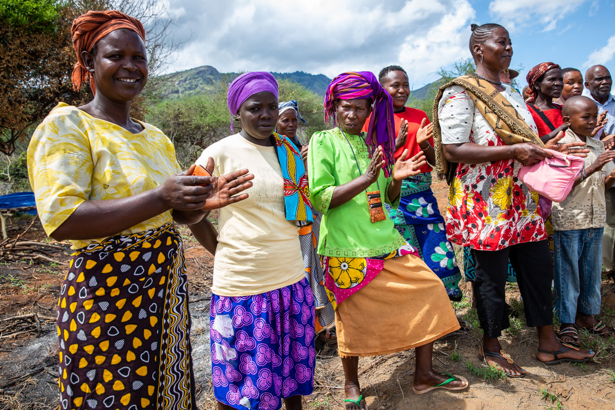 Village women celebrating