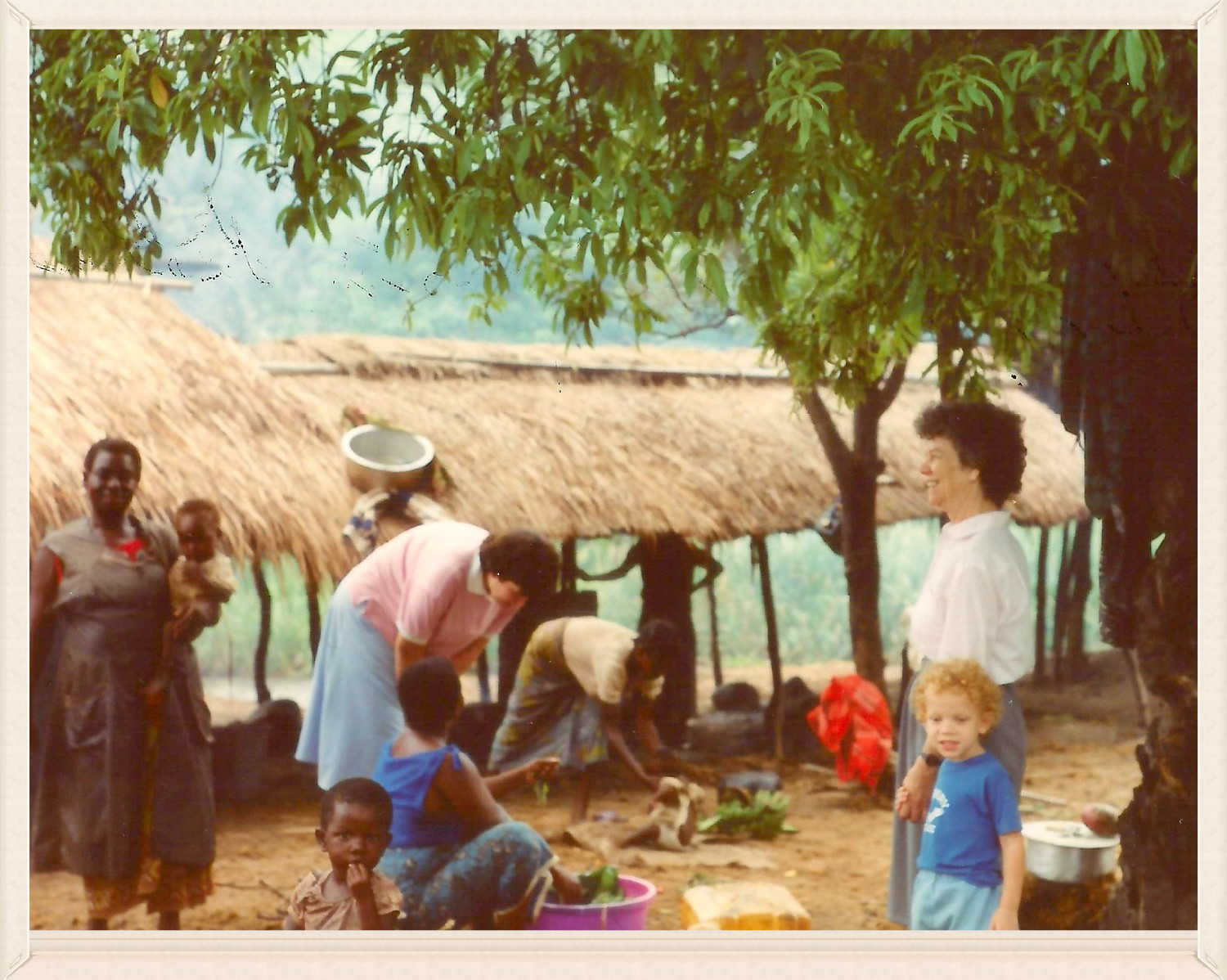 Gilbert and Jeri Roller (on right) first trip to Africa in 1991.