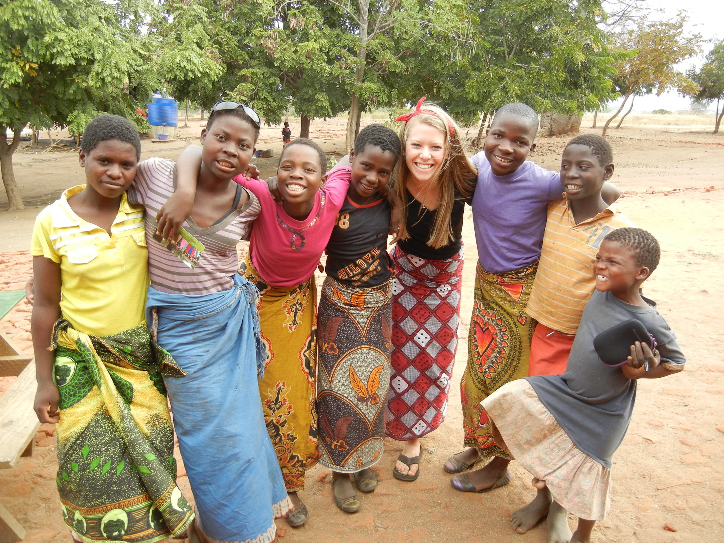 Mickenzie with some of the girls from Patricia's Home
