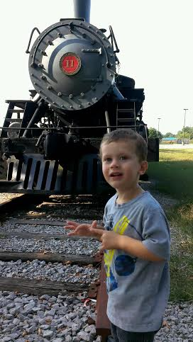 Simon and the train; how great to have such passion and joy. Lord, make us like children!
