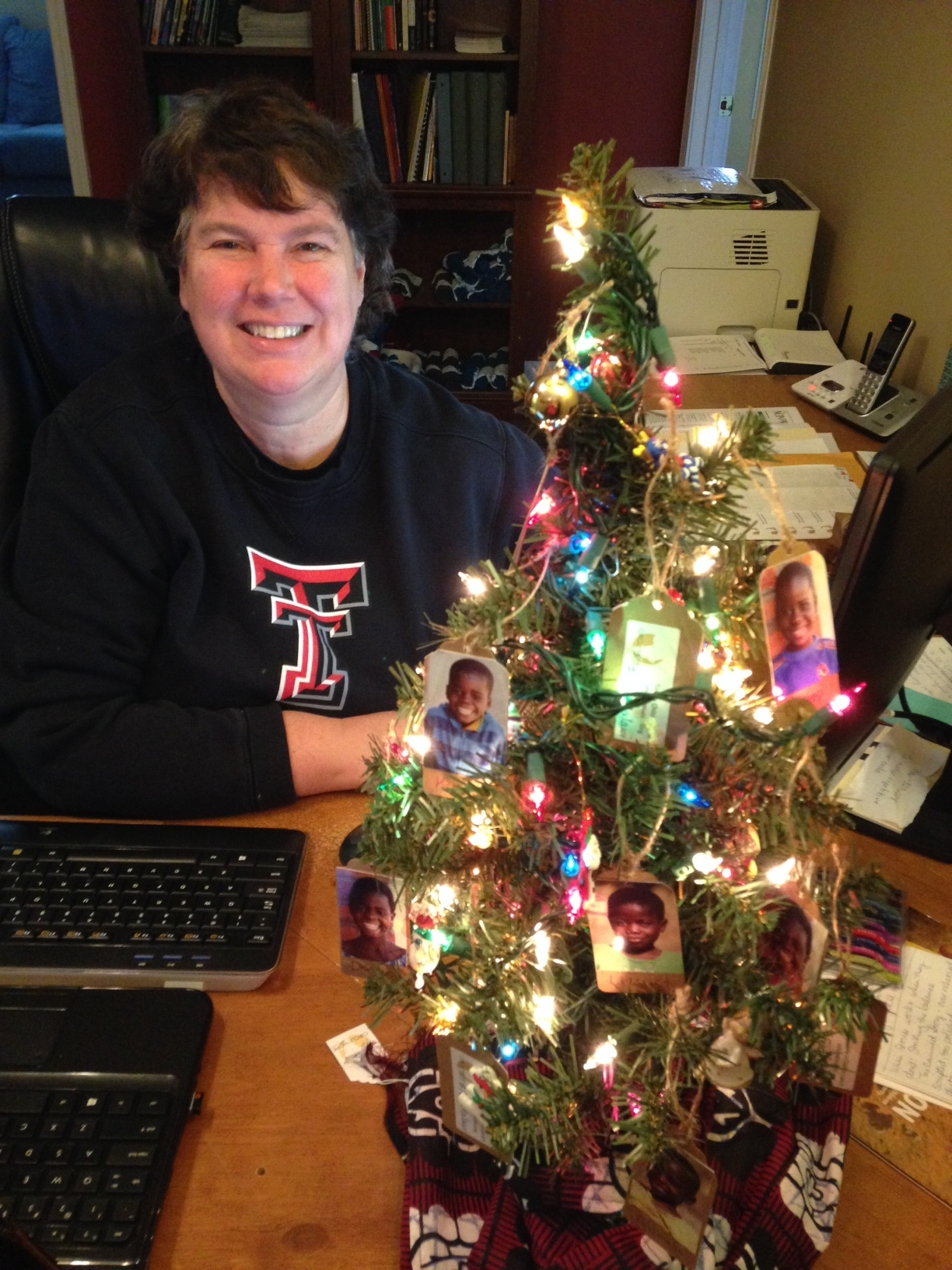 Karen Roller and her Take a Child to Lunch tree in the Circle of Hope office in Wilmore KY!