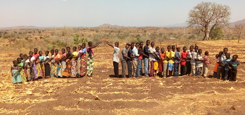 The children of Timothy's and Patricia's Home showing you the new gateway that will be built at the entrance to Grace Alliance University. I love how they are all facing out! One day, they will go out with the gospel, education, and transformation for Africa!