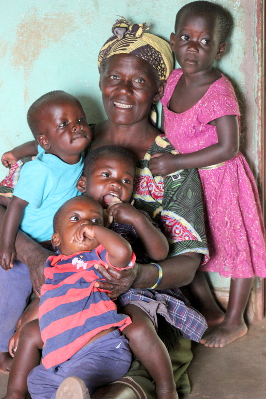 Mayi Shumba with our Patricia's Home toddlers, Esther, Matthews, Memory and Jackson.
