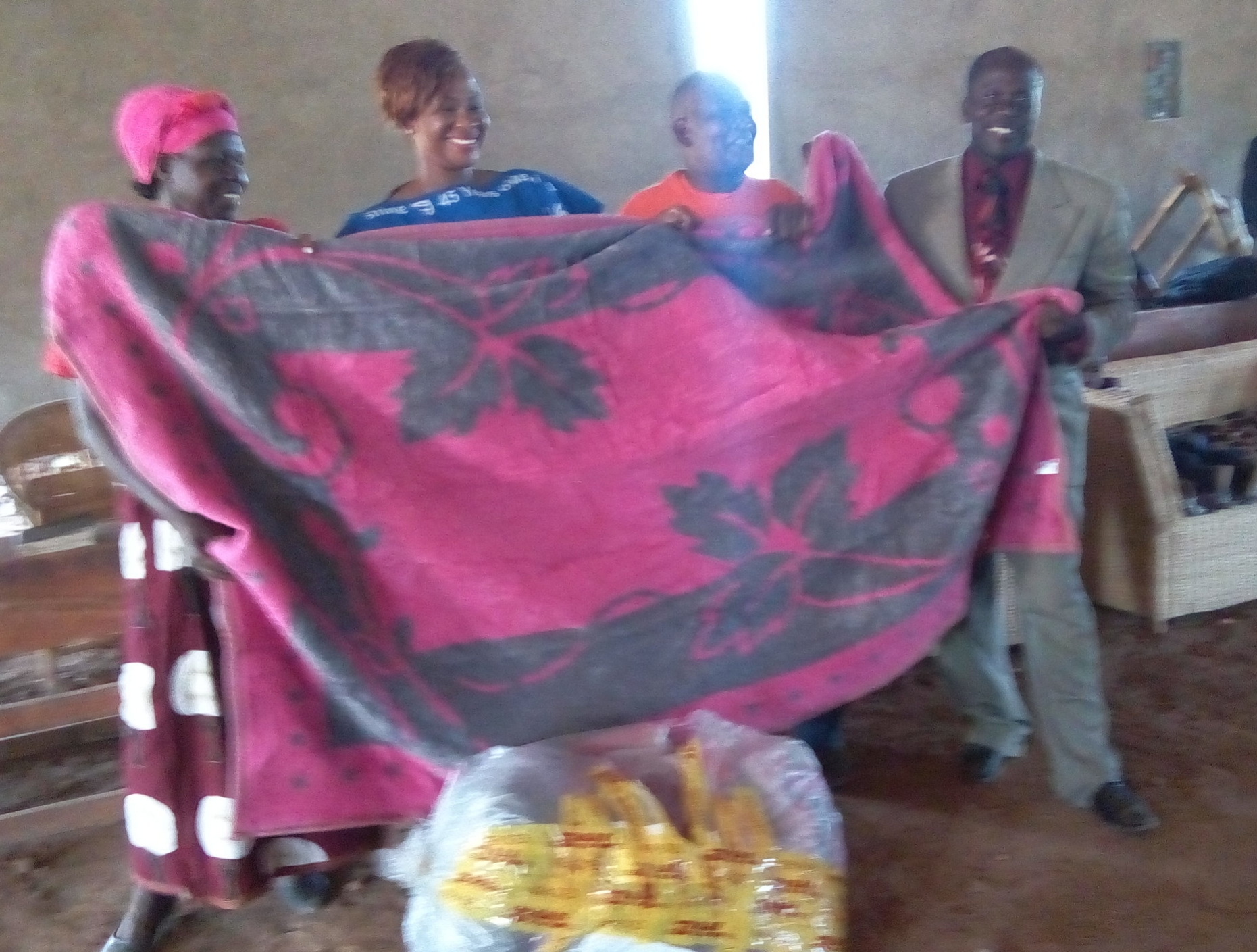 Some blankets were given for children in need.