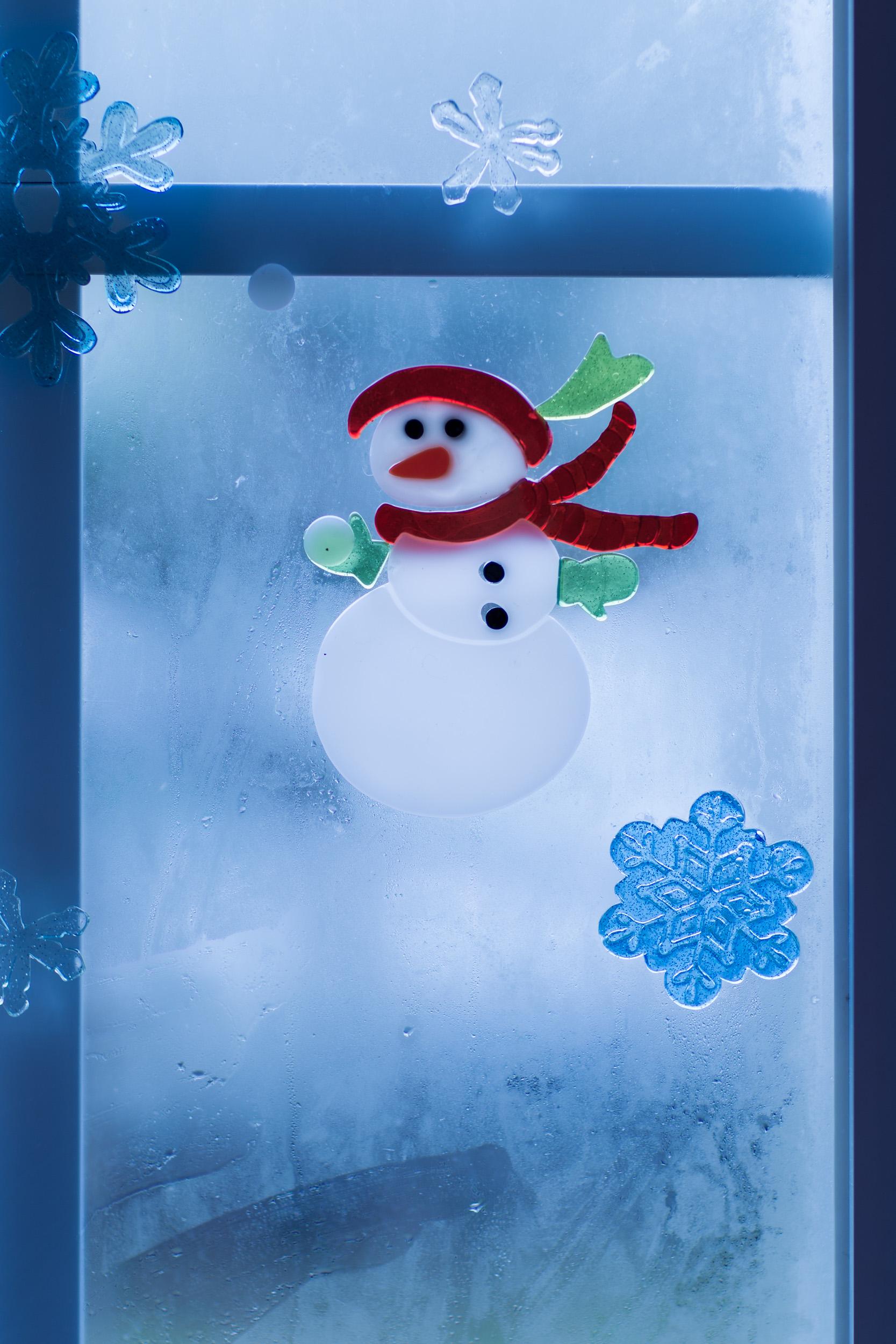 Snowman on the window