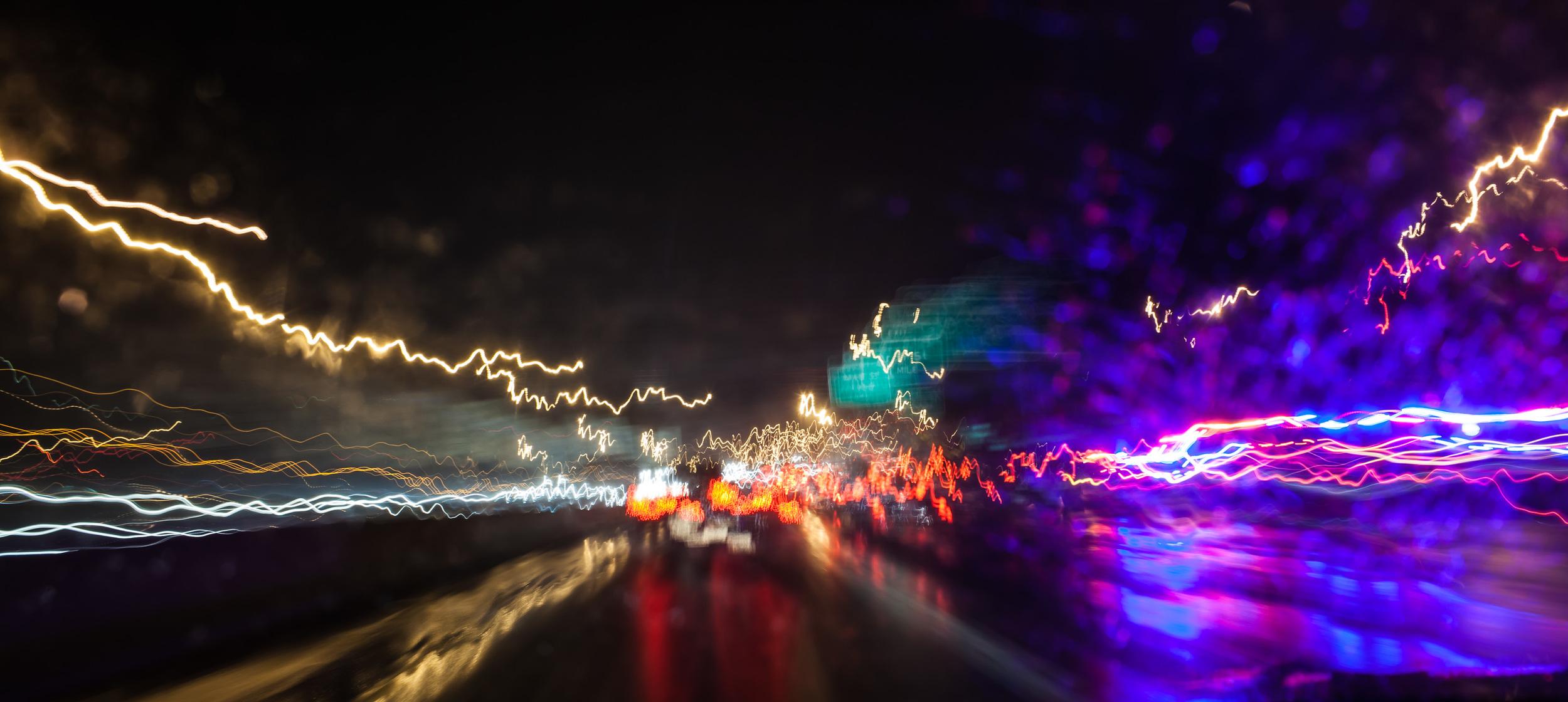 Traffic and rain
