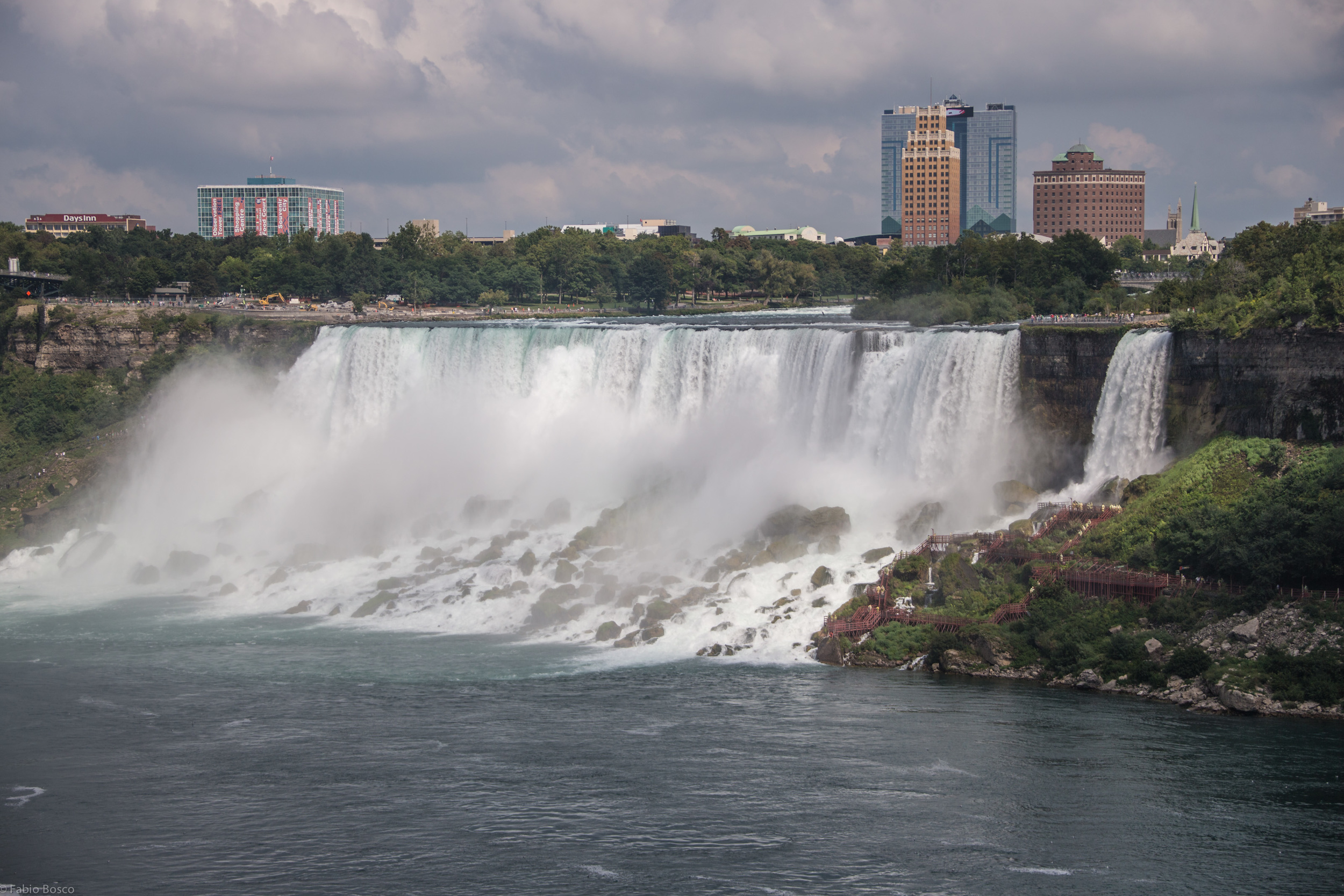 Another view from the American waterfalls and the Bridal Veil