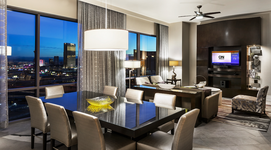 Dining Areaat Desert Blue Resort in Las Vegas, NV Designed by Design Poole, Inc in Winter Park Florida