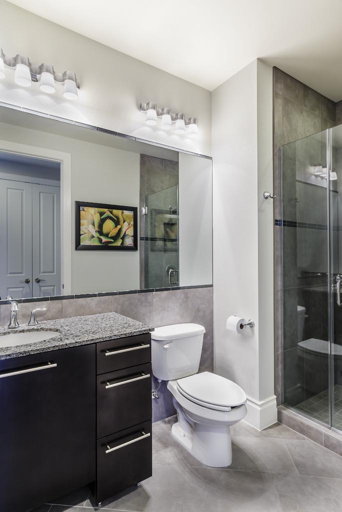 Bathroom RoomAreaat Desert Blue Resort in Las Vegas, NV Designed by Design Poole, Inc in Winter Park Florida