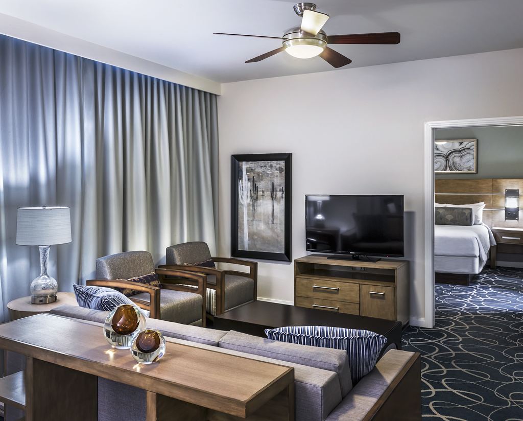 Living Areaat Desert Blue Resort in Las Vegas, NV Designed by Design Poole, Inc in Winter Park Florida