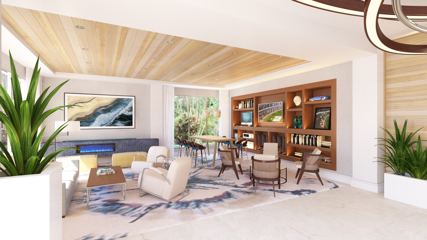 Lobby at Delta Hotel Daytona Shores, in Daytona Beach, FL, Designed by Design Poole, Inc in Winter Park Florida