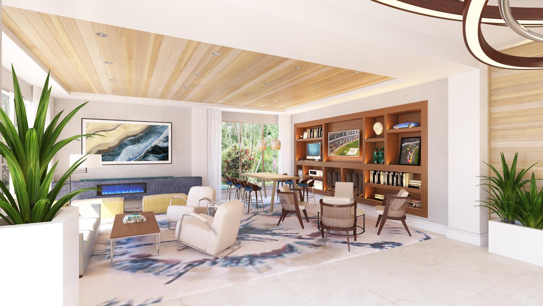 Lobbyat Delta Hotel Daytona Shores, in Daytona Beach, FL, Designed by Design Poole, Inc in Winter Park Florida