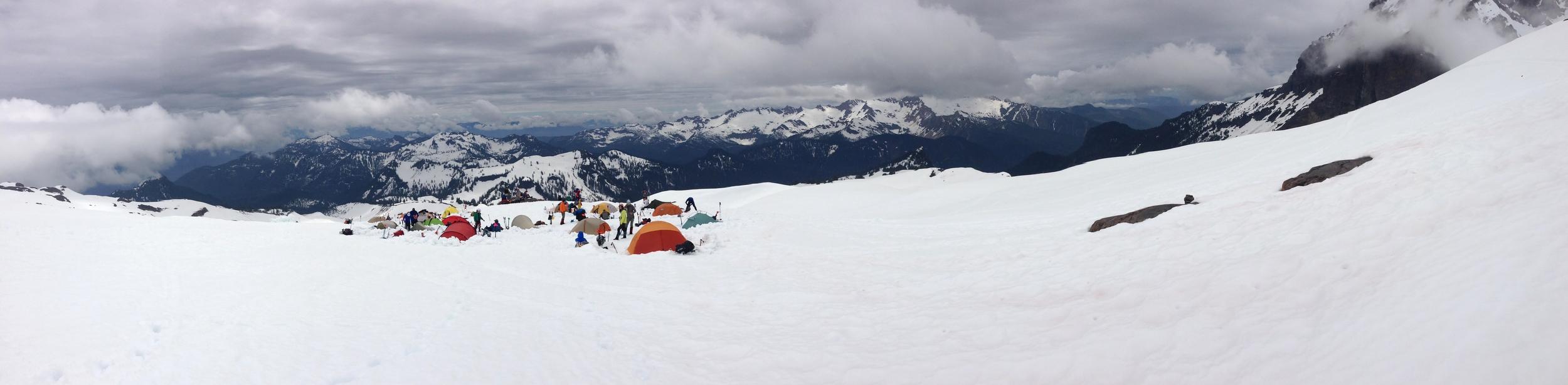 Camp near the Easton Glacier. Washington Alpine Club.