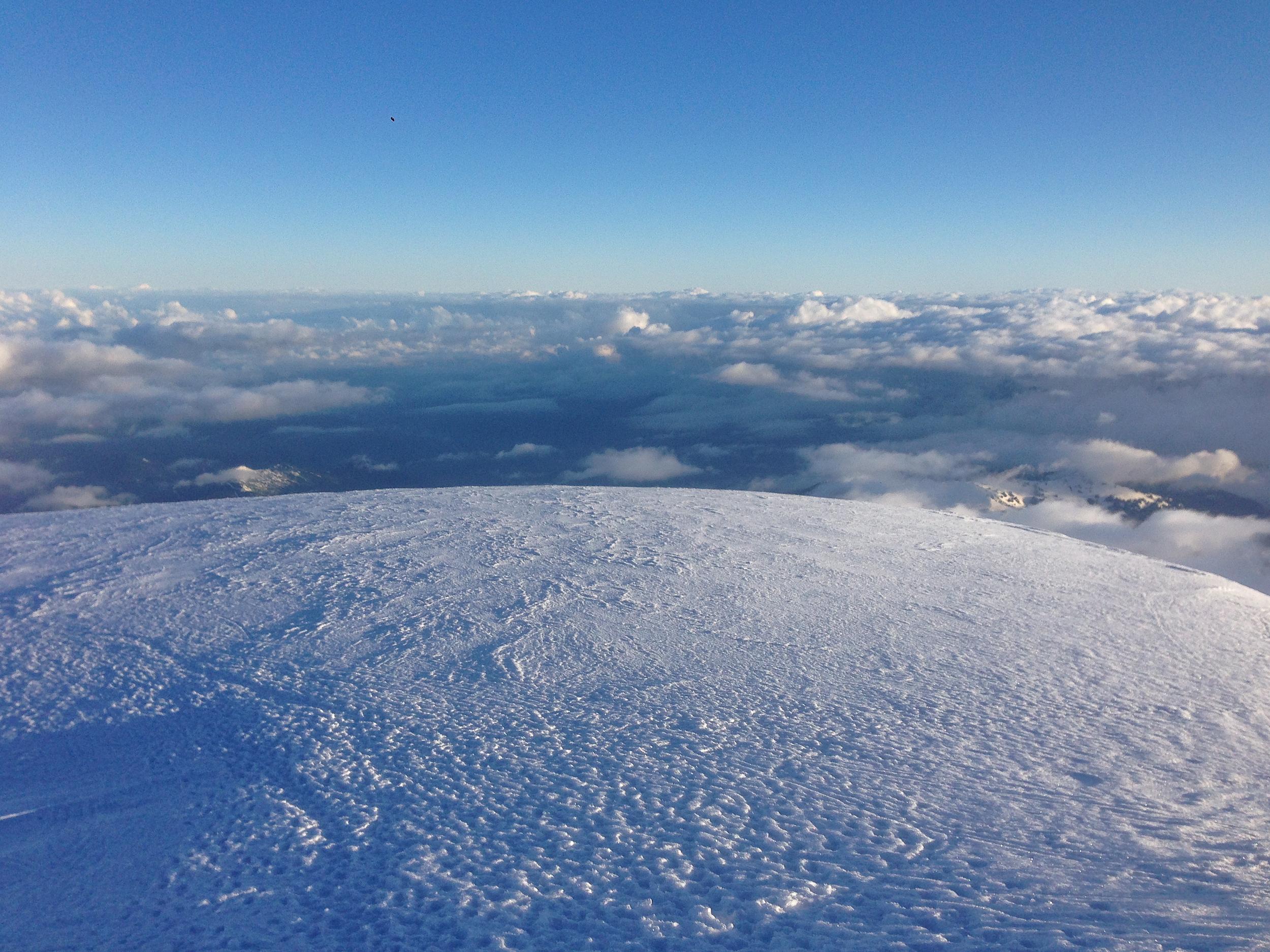 The summit of Mount Baker, Washington.