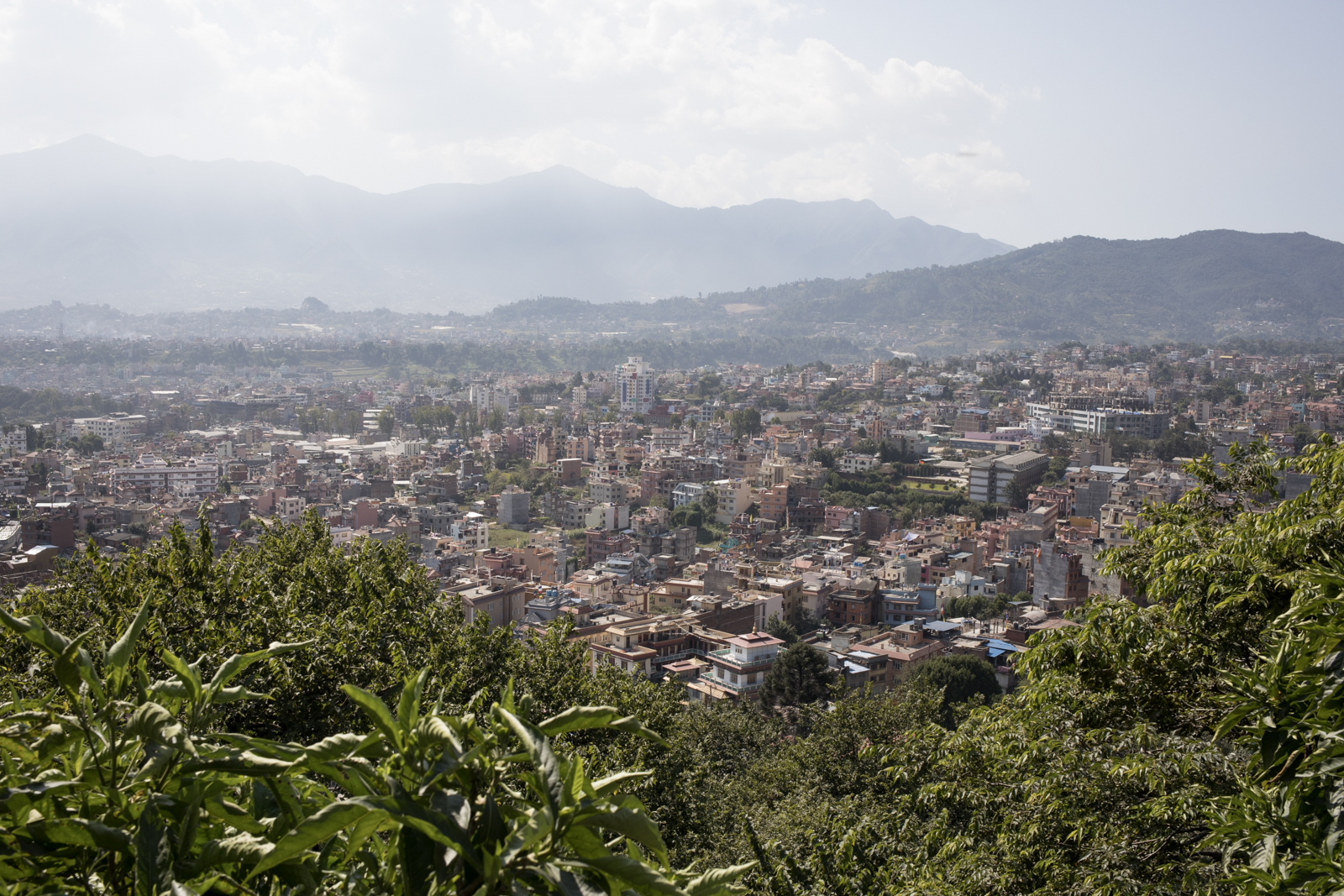 A view of Kathmandu from the hilltop temple, Swayambhunath.