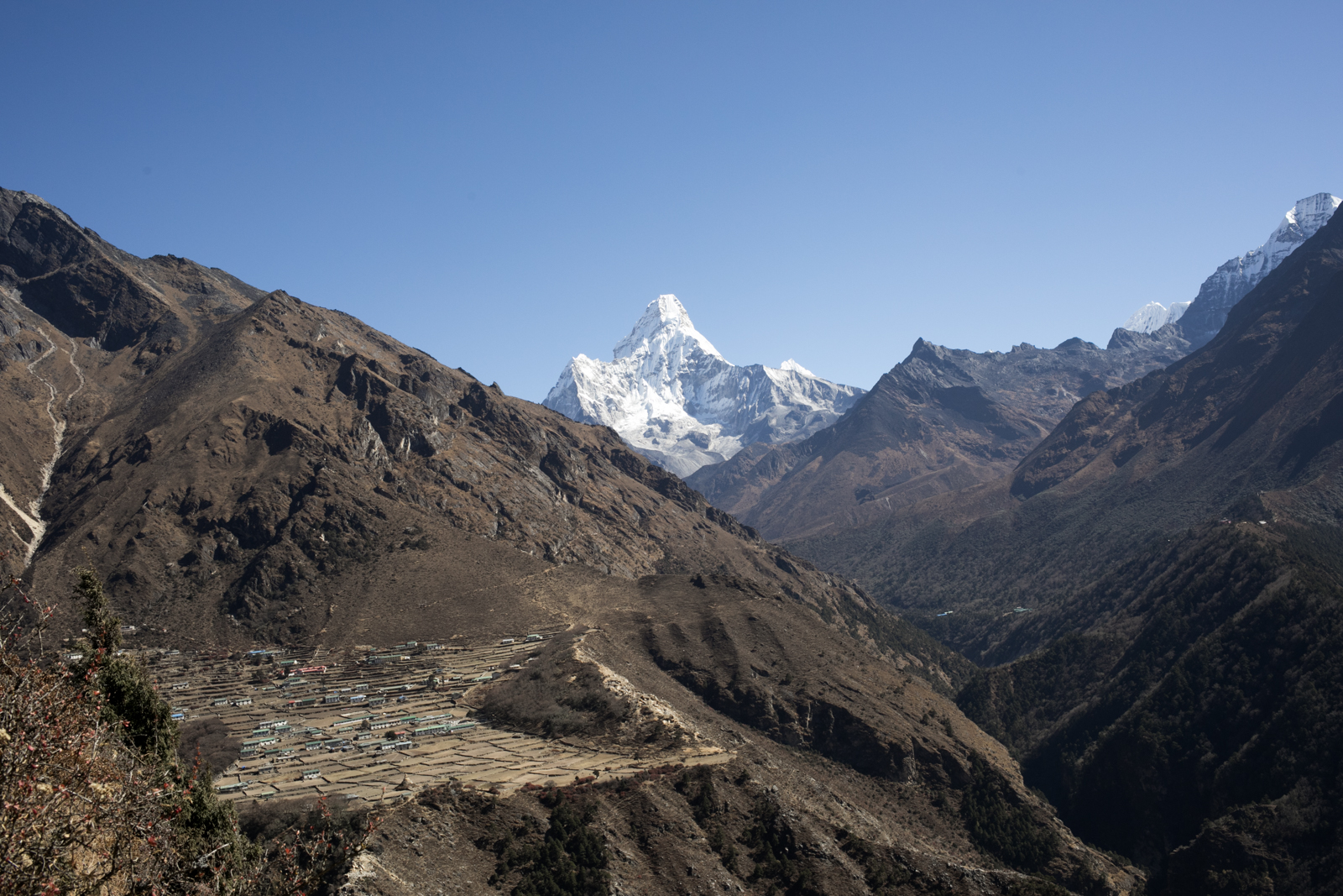 Phortse with Ama Dablam.