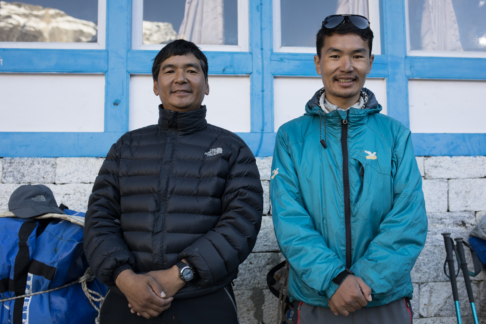 Our guide Lakpa Sherpa and his son Wanda Sherpa.