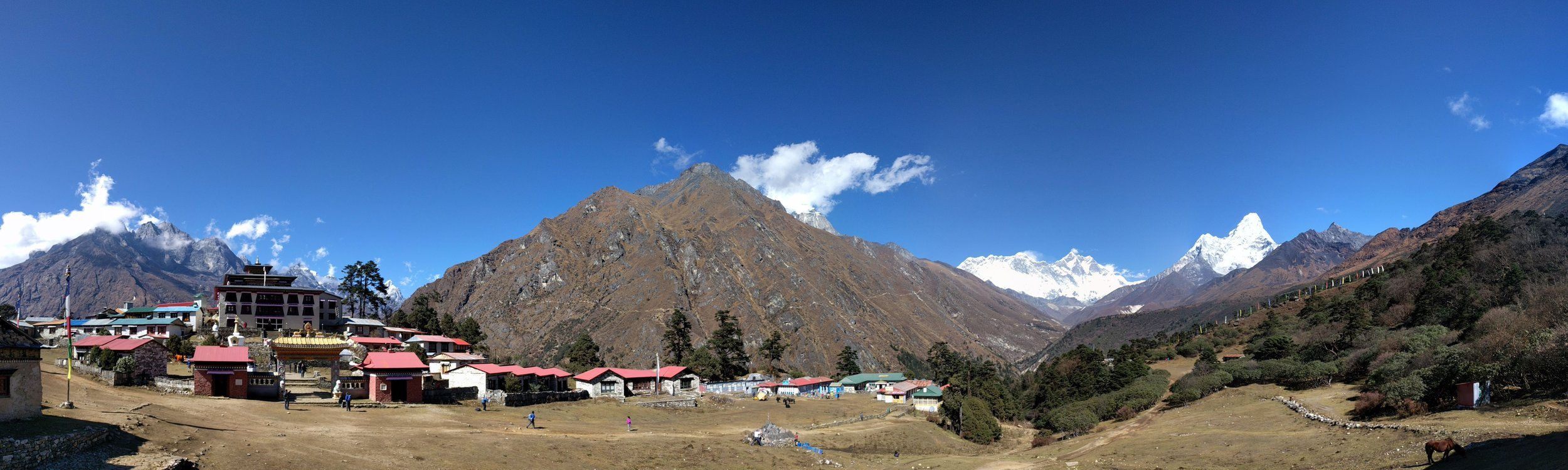 Tengboche Village panorama.