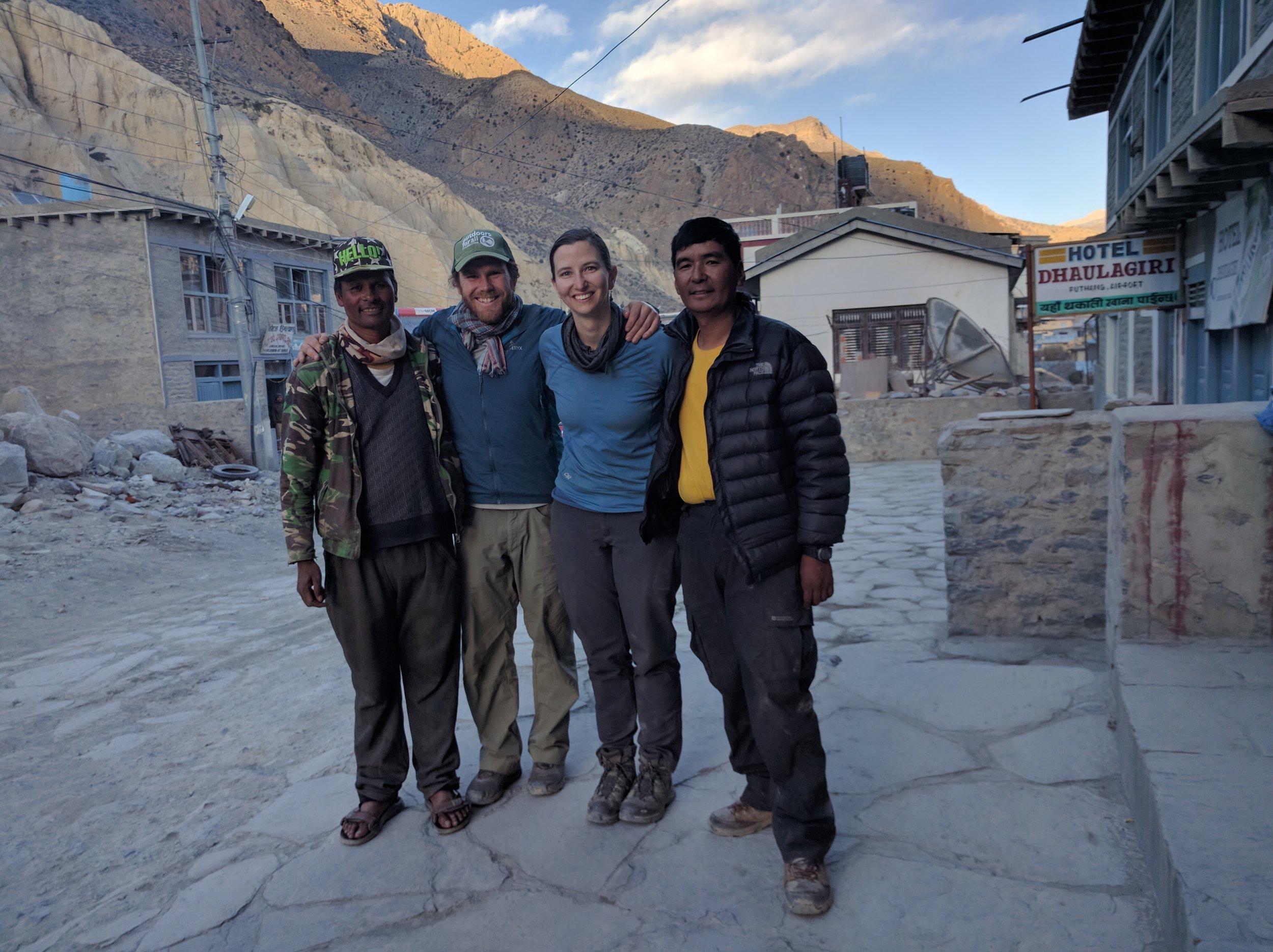 Ram, Aaron, Kay, Lakpa.