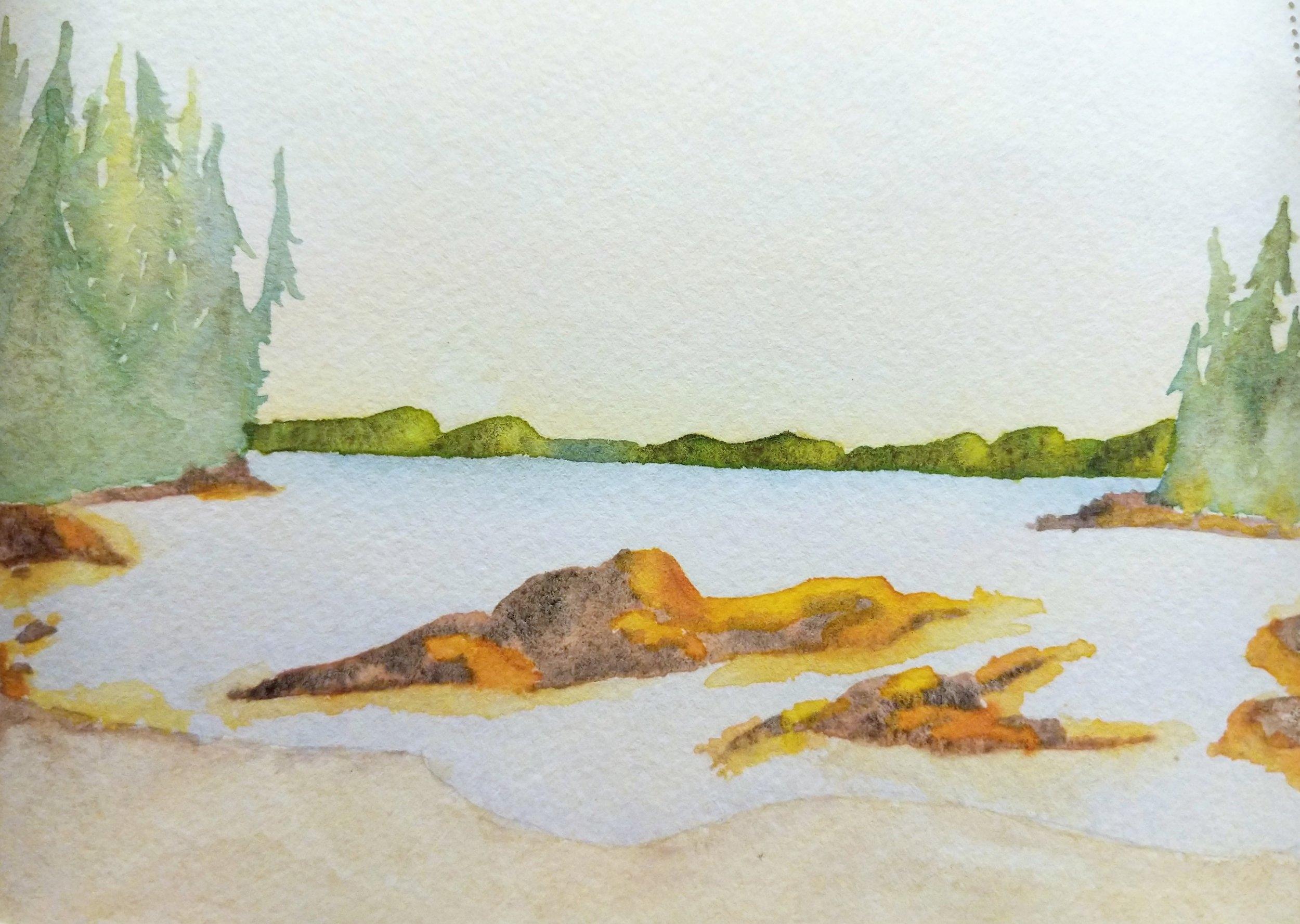 Watercolor Sketch Tah Bay