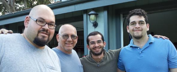 Eric Foronjy, Richard Foronjy, Kyle Foronjy, Jonathan Foronjy. Photo credit: Kathleen Foronjy