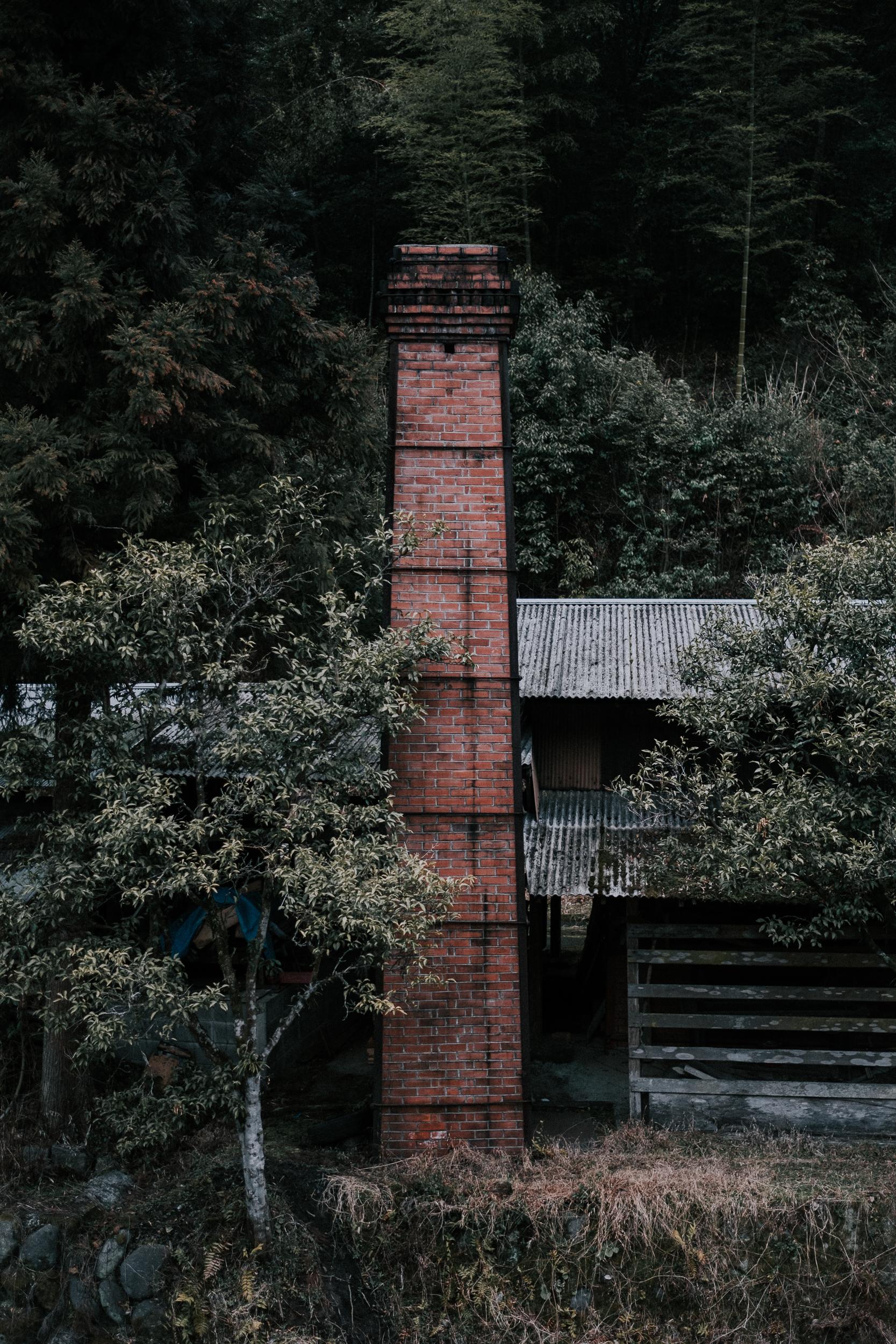 A chimney in Ontayaki village.
