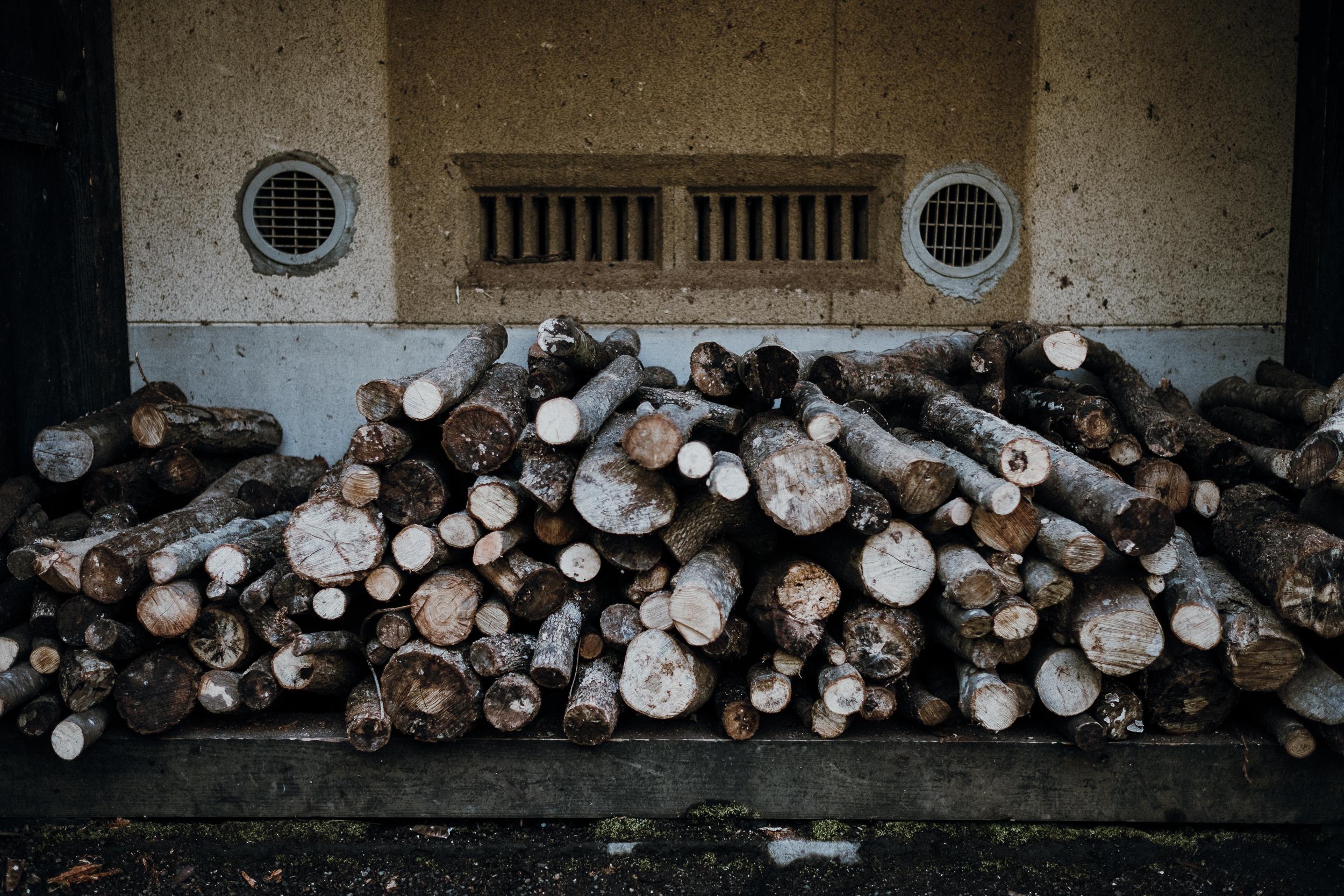 Firewood at Ryokan Sanga.