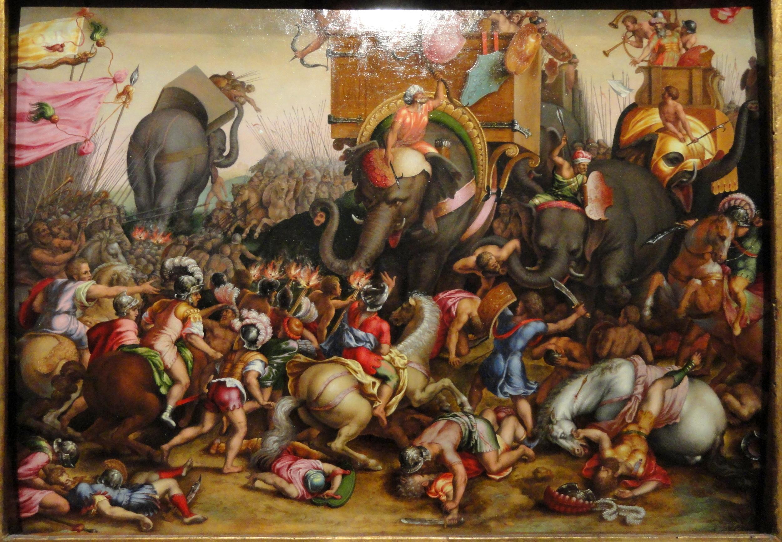 The Battle of Zama (202 BCE). Picture credit = artic.edu
