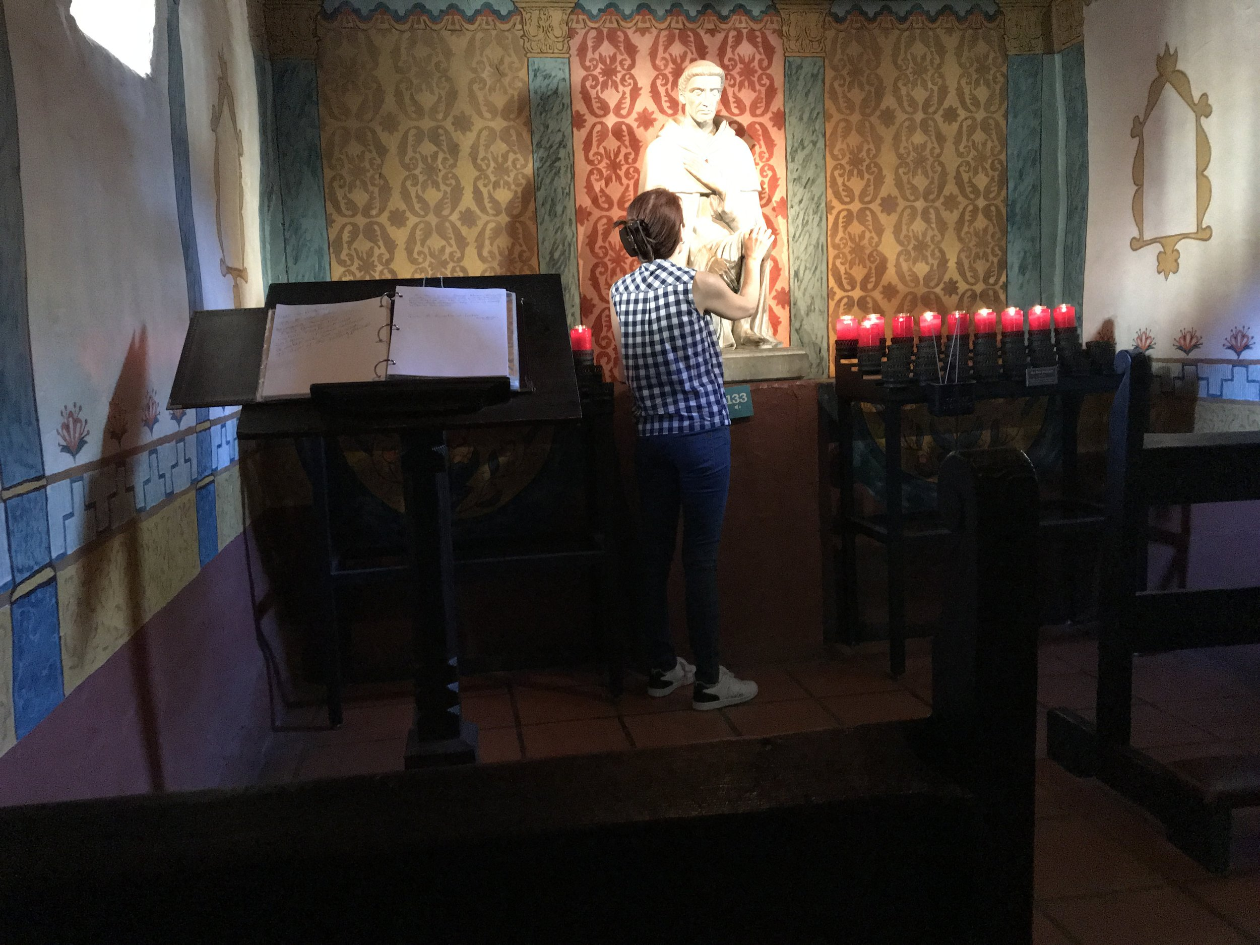 St. Peregrine Shrine  at Serra Chapel - Mission San Juan Capistrano -  May 3, 2018