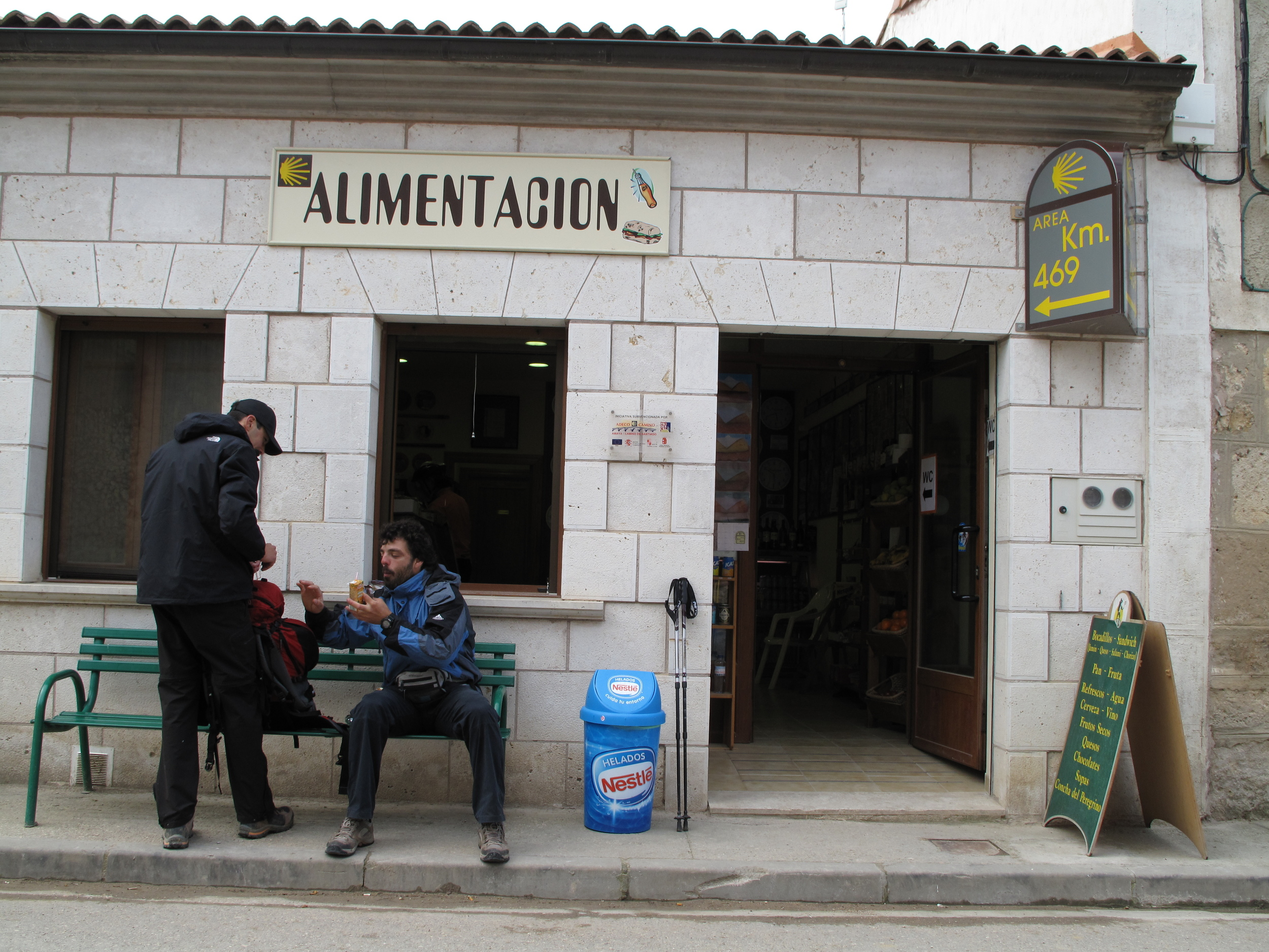 This bar is where a Camino miracle happened. A woman from Bilbao walking with her young daughter had lost her camera in Burgos. A pilgrim picked it up and left it here, knowing she might walk by. Wow!