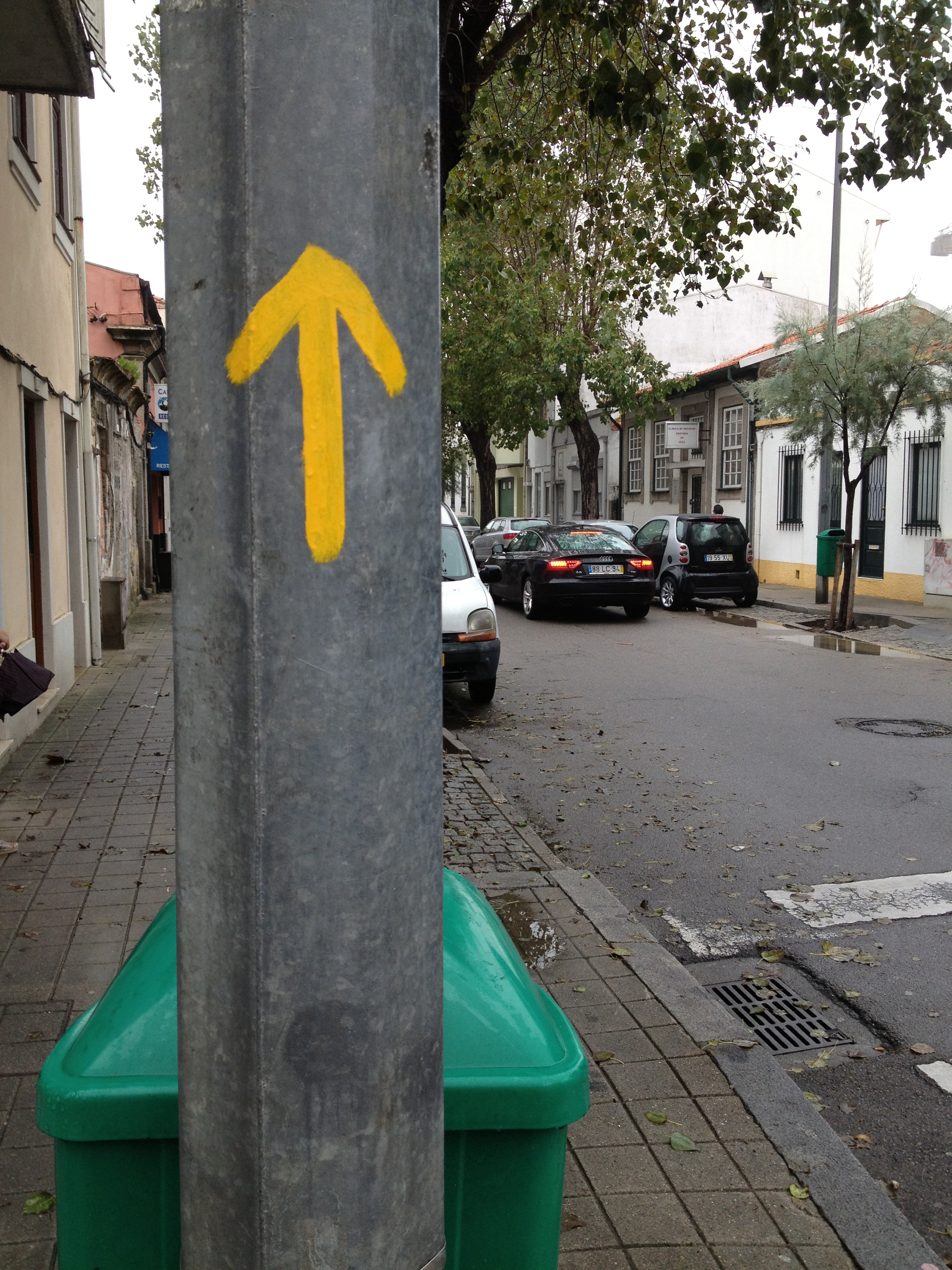 The first yellow arrow I would see.