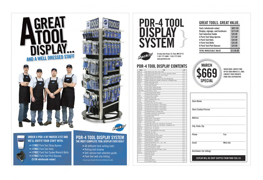 Park Tool Sales Collateral